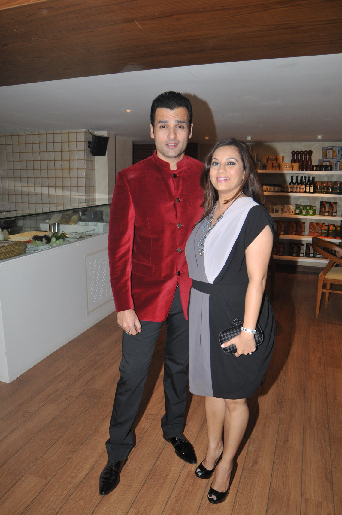 Rohit Roy and His Wife
