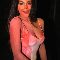 Veena Malik's first Holi celebration
