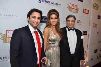 adar, natasha and cyrus poonawala at Hello! Hall of Fame Awards 2012