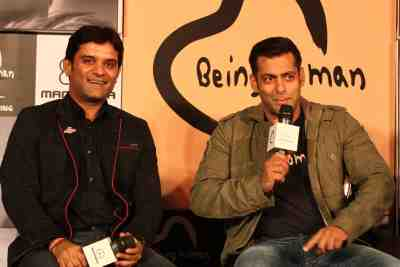 Manish Mandhana and Salman Khan at the launch of Being Human flagship store