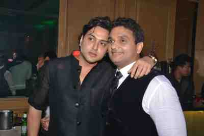 Fashion Designer Sameer Patel with stockbroker Mahavir Mehta