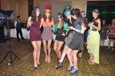 Invited guests partying  at Mahavir Mehta's anniversary bash.,