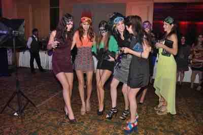 Invited guests partying  at Mahavir Mehta's anniversary bash.
