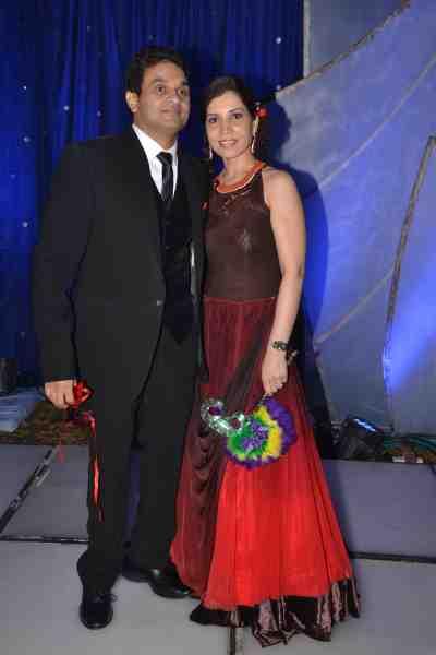 Stockbroker & film producer Mahavir Mehta with his wife Asha Mehta