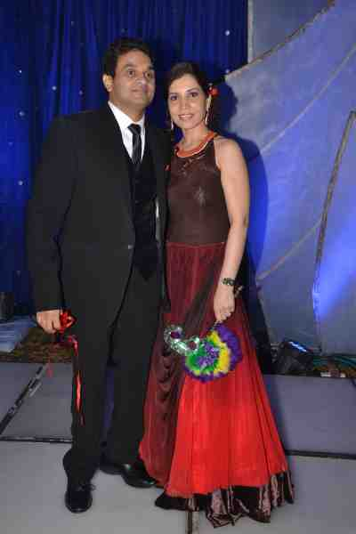Stockbroker & film producer Mahavir Mehta with his wife Asha Mehta