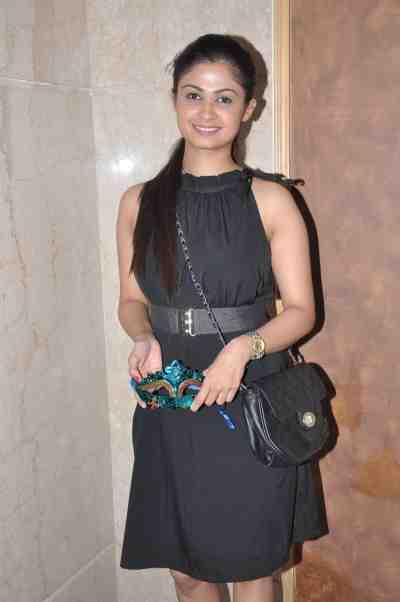TV actor Ruchi Savarn (Ghar Aaja Pardesi) at Mahavir Mehta's anniversary bash.,