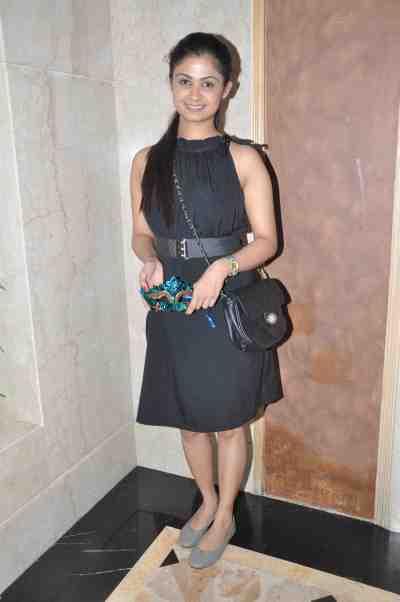 TV actor Ruchi Savarn (Ghar Aaja Pardesi) at Mahavir Mehta's anniversary bash