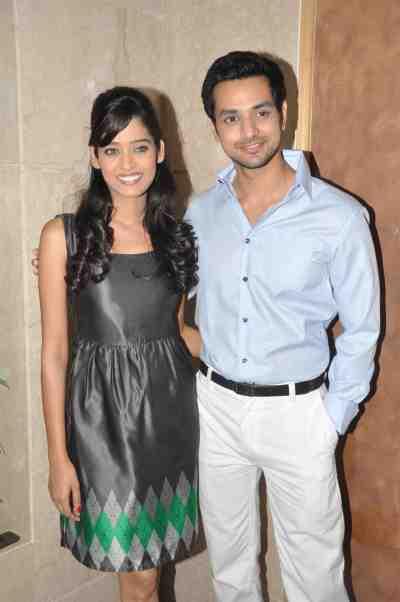 TV actors Neha Saxena (Amita Ka Amit) & Shakti Arora (Pavitra Rishta) at Mahavir Mehta's anniversary bash