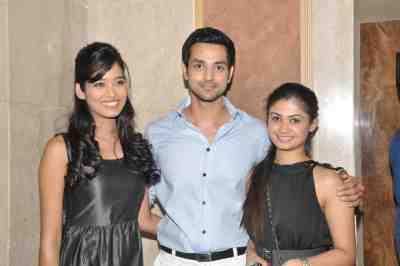 TV actors Neha Saxena (Amita Ka Amit), Shakti Arora (Pavitra Rishta) & Ruchi Savarn (Ghar Aaja Pardesi) &  at Mahavir Mehta's anniversary bash.