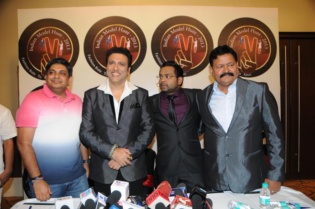 5. Hadi Ali Abrar (Director),  Govinda, with Mr. P.T.Das (Producer)  & Mr. D.N.Dubey (Co - Producer)   DSC_0036
