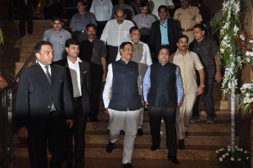 Ashok Chauhan & Kripa Shankar Singh at the Launch of Jai Maharashtra News Channel at Grand Hyatt