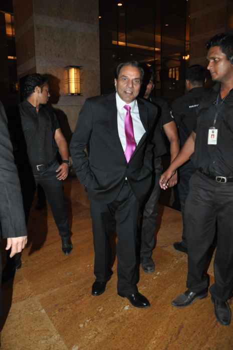 Dharmendra at the Launch of Jai Maharashtra News Channel at Grand Hyatt