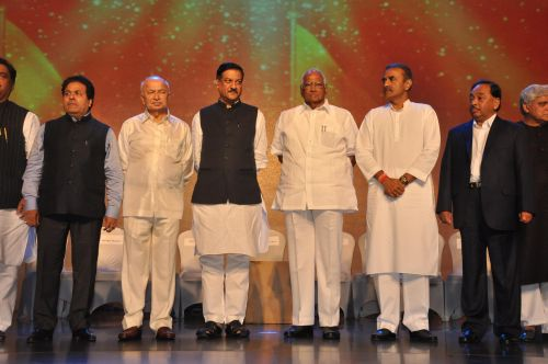 Ministers at the Launch of Jai Maharashtra News Channel at Grand Hyatt