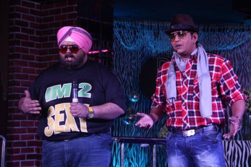 Rajat & Ravi Kishan presenting their charachters from the film