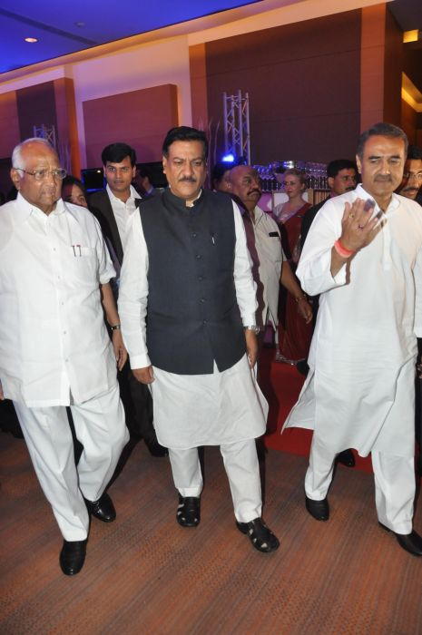 Sharad Pawar, Ashok Chavhan & Praful Patel at the Launch of Jai Maharashtra News Channel at Grand Hyatt
