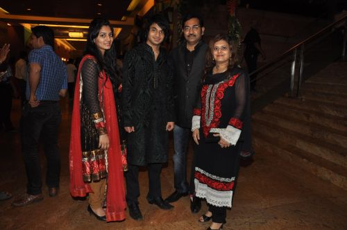 Sudesh Bhosle With family at the launch of Jai Maharashtra News Channel at Grand Hyatt