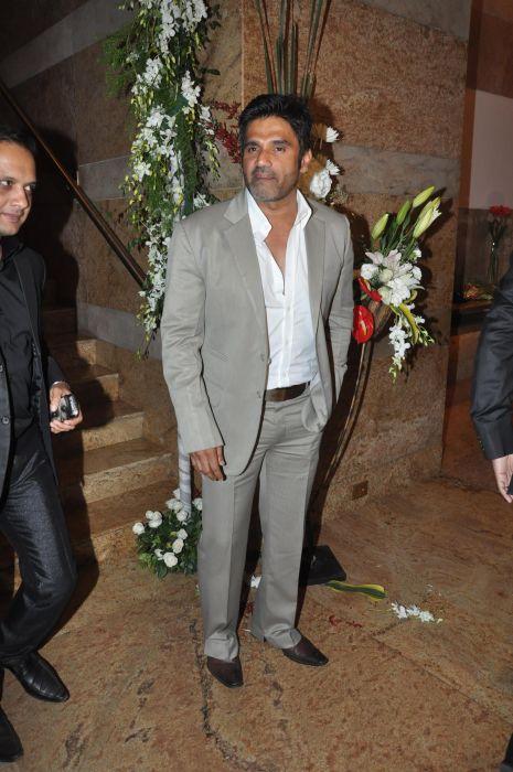 Suniel Shetty at the Launch of Jai Maharashtra News Channel at Grand Hyatt