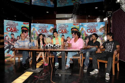 13. Jyotin Goel (Director) , Adah Sharma, Dev Goel, Chunky Pandey with  Sangeet & Siddharth Haldipur (Music Director)   _MG_1125
