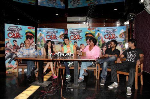 13. Jyotin Goel (Director) , Adah Sharma, Dev Goel, Chunky Pandey with  Sangeet & Siddharth Haldipur (Music Director)   _MG_1125