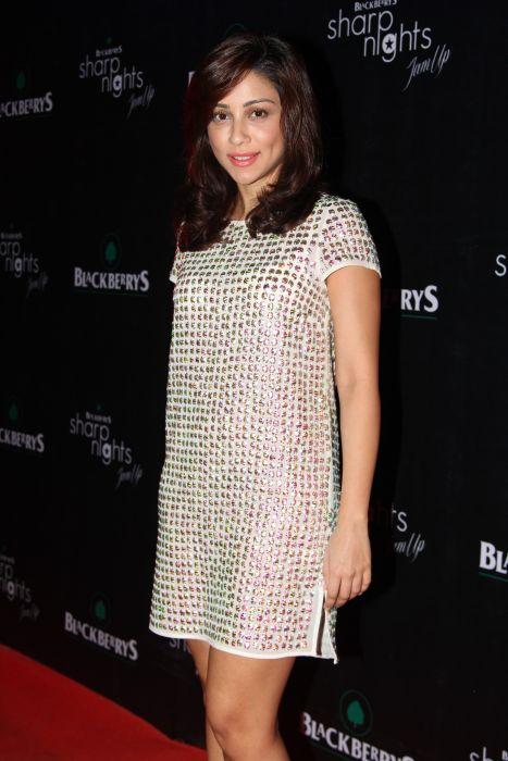 Amrita Puri at Blackberrys Sharp Nights Summer 13 collection launch