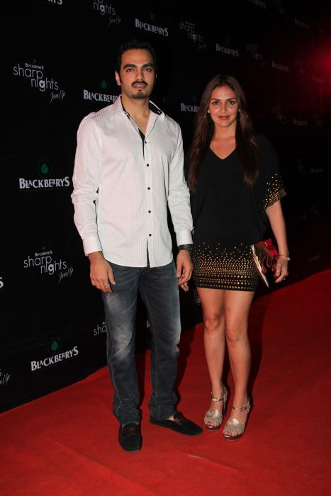 Bharat Takhtani and Esha Deol Takhtani at Blackberrys Sharp Nights Summer 13 collection launch