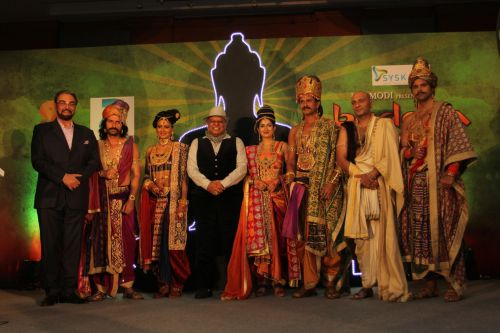 Dr. BK Modi with the cast of his newly launched - Buddha