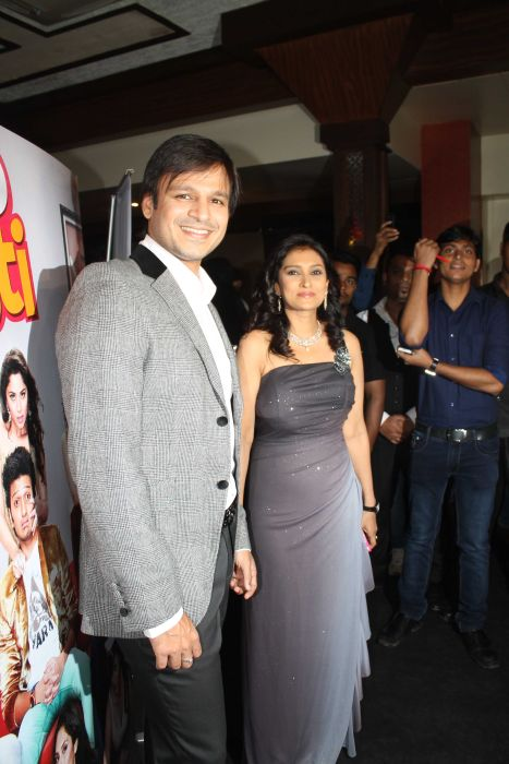 Lalitya Munshaw with Vivek Oberoi at event