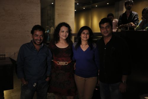 Left Ameya khopkar , Singer Janvee, Shailni Thakare Nn Jeetendra Thakare