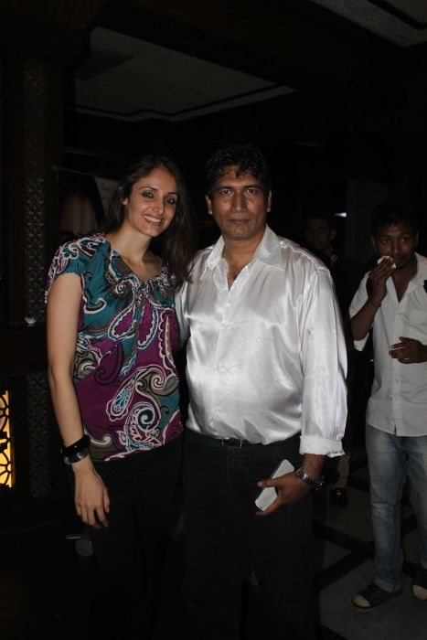 Satish Reddy with mexican actress Rebbeca Mayouge