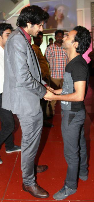 Ali Fazal and Pitobash share a moment at Baat Bann Gayi premiere
