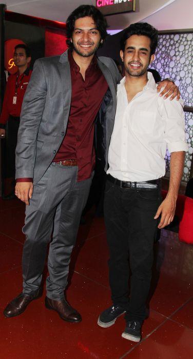 Ali Fazal and Satyajeet Dubey at Baat Bann Gayi premiere