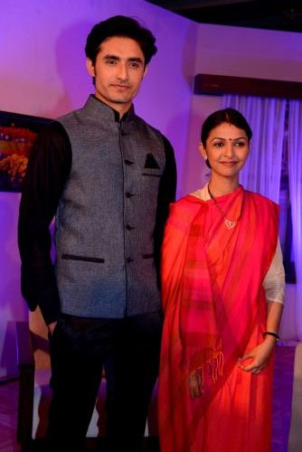 Rafi Malik and Kirti Nagpure on the launch Press Conference of Sony Entertainment Television's New Fiction Show Desh Ki Beti...Nandini