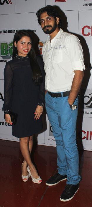 Rekha Rana and Ashish Mishra at Baat Bann Gayi premiere
