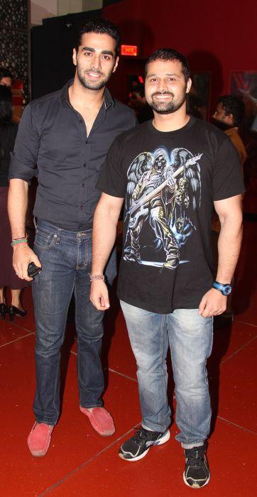 Sagar and Mudasir Ali at Baat Bann Gayi premiere