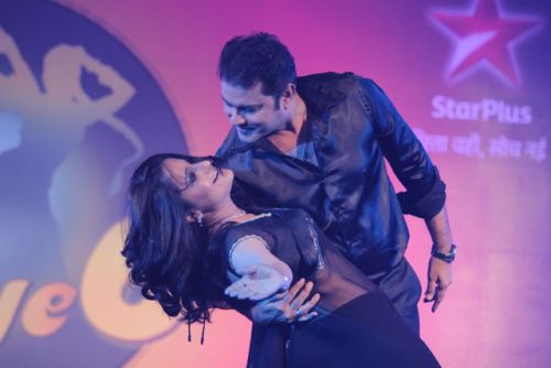 Sanjeev and Lataa at the press conference of Nach Baliye-6 Starting 9th November @ 9pm on STAR Plus!
