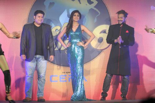 Shilpa Shetty Kundra, Sajid Khan and Terence Lewis  at the Press conference of Nach Baliye-6