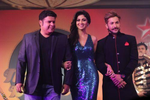 Shilpa Shetty Kundra, Sajid Khan and Terence Lewis  at the Press conference of Nach Baliye-6!