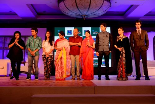Sneha Rajani, Senior EVP and Business Head SET and the star cast of Desh Ki Beti Nandini on the launch Press Conference of Sony Entertainment Television's New Fiction Show Desh Ki Beti...Nandini