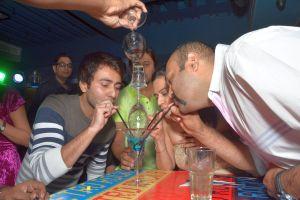 Krishna Bharadwaj trying the flaming shots