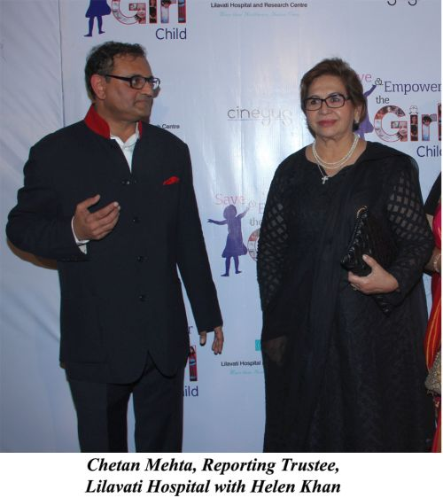 Chetan Mehta, Reporting Trustee, Lilavati Hospital with Helen Khan
