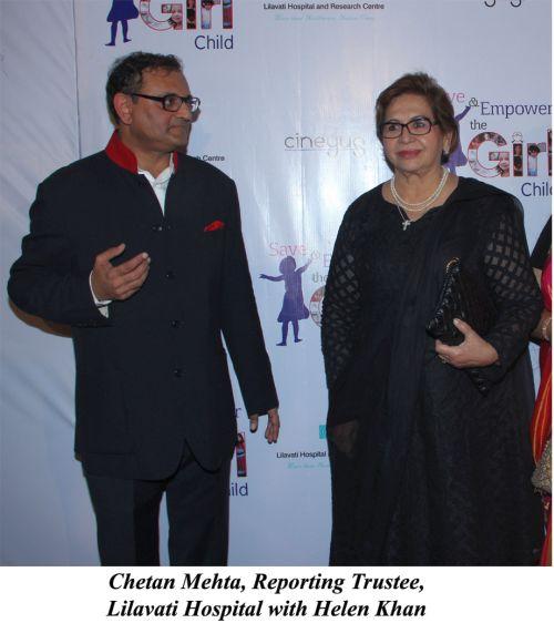 Chetan Mehta, Reporting Trustee, Lilavati Hospital with Helen Khan