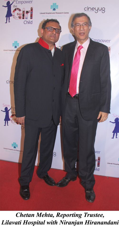 Chetan Mehta, Reporting Trustee, Lilavati Hospital with Niranjan Hiranandani