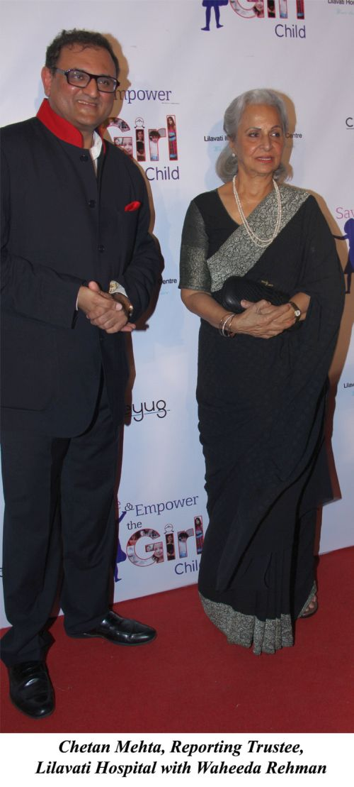 Chetan Mehta, Reporting Trustee, Lilavati Hospital with Waheeda Rehman