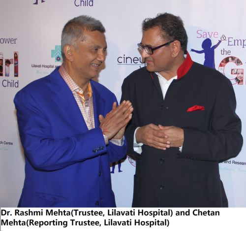 Dr. Rashmi Mehta(Trustee, Lilavati Hospital) and Chetan Mehta(Reporting Trustee, Lilavati Hospital)