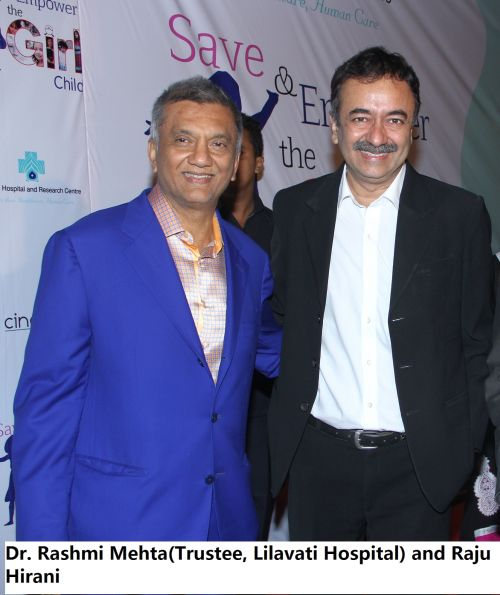 Dr. Rashmi Mehta(Trustee, Lilavati Hospital) and Raju Hirani