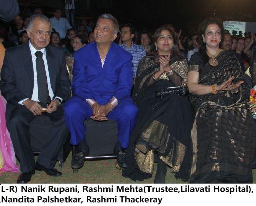 L-R) Nanik Rupani, Rashmi Mehta(Trustee,Lilavati Hospital), Nandita Palshetkar, Rashmi Thackeray