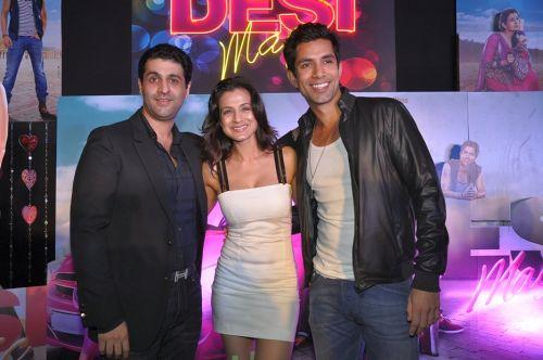 producers kuunal goomer & ameesha patel along with sahil shroff