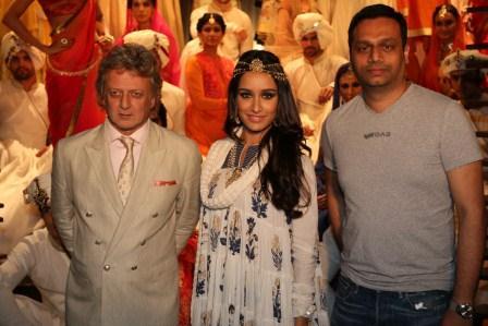 Rohit Bal, Shraddha Kapoor and Arun Chandra Mohan