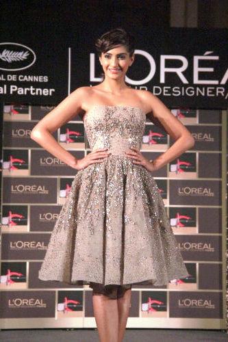 L'Oreal Paris brand ambassaor Sonam Kapoor launching L'Or Lumiere