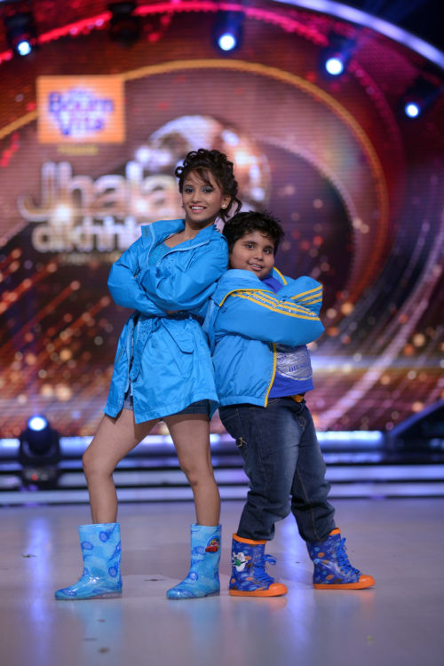 Contestant Akshat Singh with his choreographer Vaishnavi